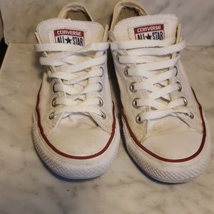 Worn All Star Converse White. Size 7